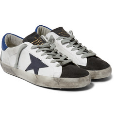 Golden Goose Deluxe Brand Superstar Distressed Leather and Suede Sneakers