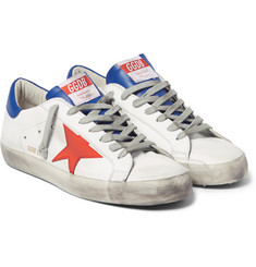 Golden Goose Deluxe Brand Superstar Distressed Leather Sneakers