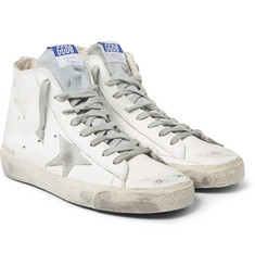 Golden Goose Deluxe Brand - Distressed Leather High-Top Sneakers