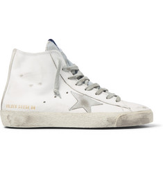 Golden Goose Deluxe Brand Distressed Leather High-Top Sneakers