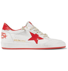 Golden Goose Deluxe Brand Ball Star Distressed Leather Sneakers