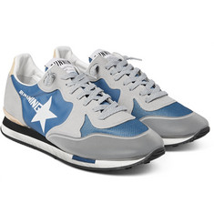 Golden Goose Deluxe Brand Tech-Canvas, Mesh and Nubuck Running Sneakers