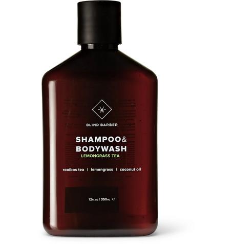 BLIND BARBER Lemongrass Tea Shampoo & Bodywash, 350Ml in Black