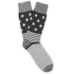 Corgi Stars and Stripes Wool-Blend Socks