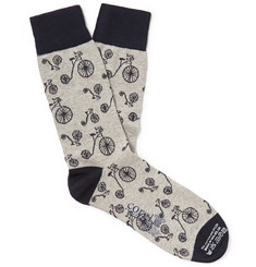 Corgi Penny Farthing Cotton-Blend Socks