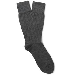 Corgi Ribbed Cotton and Cashmere-Blend Socks