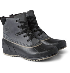 Sorel Ankeny Leather, Suede and Rubber Boots