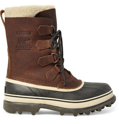 Sorel Caribou Waterproof Full-Grain Leather and Rubber Snow Boots