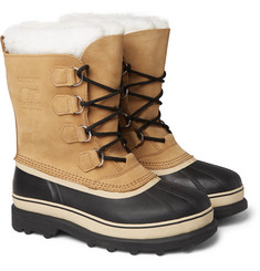 Sorel Caribou Nubuck and Rubber Snow Boots