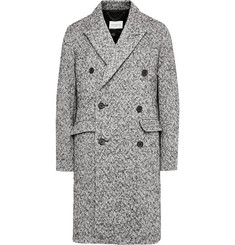 Sandro Double-Breasted Herringbone Wool-Blend Overcoat