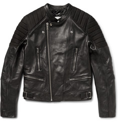 Sandro Nubuck-Panelled Leather Biker Jacket
