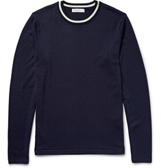 Sandro Silk and Cotton-Blend Sweater