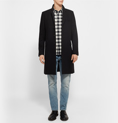 Sandro Buffalo Slim-Fit Checked Cotton-Flannel Shirt