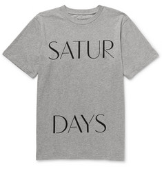 Saturdays Surf NYC Spaced Printed Cotton-Jersey T-Shirt