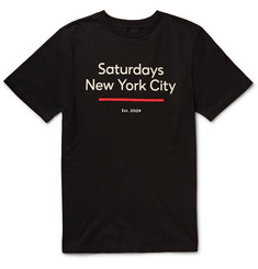Saturdays NYC Standard Underline Printed Cotton-Jersey T-Shirt