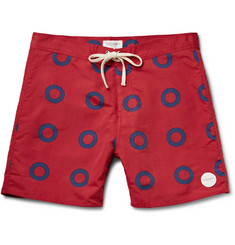 Saturdays Surf NYC Colin Slim-Fit Printed Mid-Length Swim Shorts