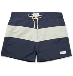 Saturdays NYC Grant Mid-Length Striped Shell Swim Shorts
