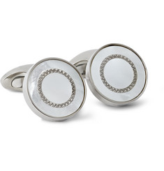 TATEOSSIAN Titanium Mother-of-Pearl Cufflinks