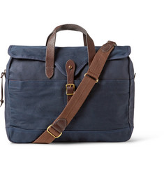 J.Crew - Abingdon Waxed Cotton-Canvas and Leather Laptop Bag