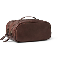 J.Crew Montague Textured-Leather Wash Bag