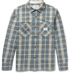Neighborhood Plaid Brushed Cotton-Twill Shirt