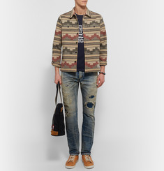 Neighborhood Printed Wool-Blend Flannel Overshirt