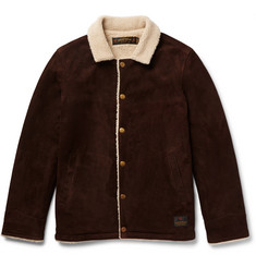 Neighborhood - Faux Shearling-Lined Suede Jacket