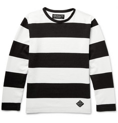 Neighborhood - Striped Knitted Cotton T-Shirt