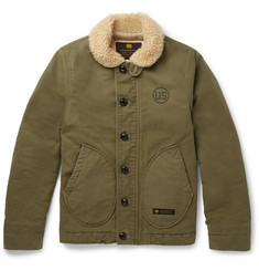 Neighborhood - Slim-Fit Faux Shearling-Trimmed Woven Cotton Deckhand Jacket