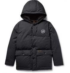 Neighborhood Hooded Canvas Down Jacket