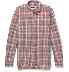 Remi Relief Slim-Fit Washed-Cotton Plaid Shirt