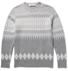 Remi Relief Jacquard-Knit Wool Sweater