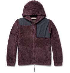 Remi Relief Cotton-Panelled Wool-Fleece Hoodie