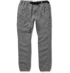 Remi Relief Tapered Buckled Wool-Blend Trousers