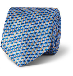 Penrose Cube Patterned Silk Tie
