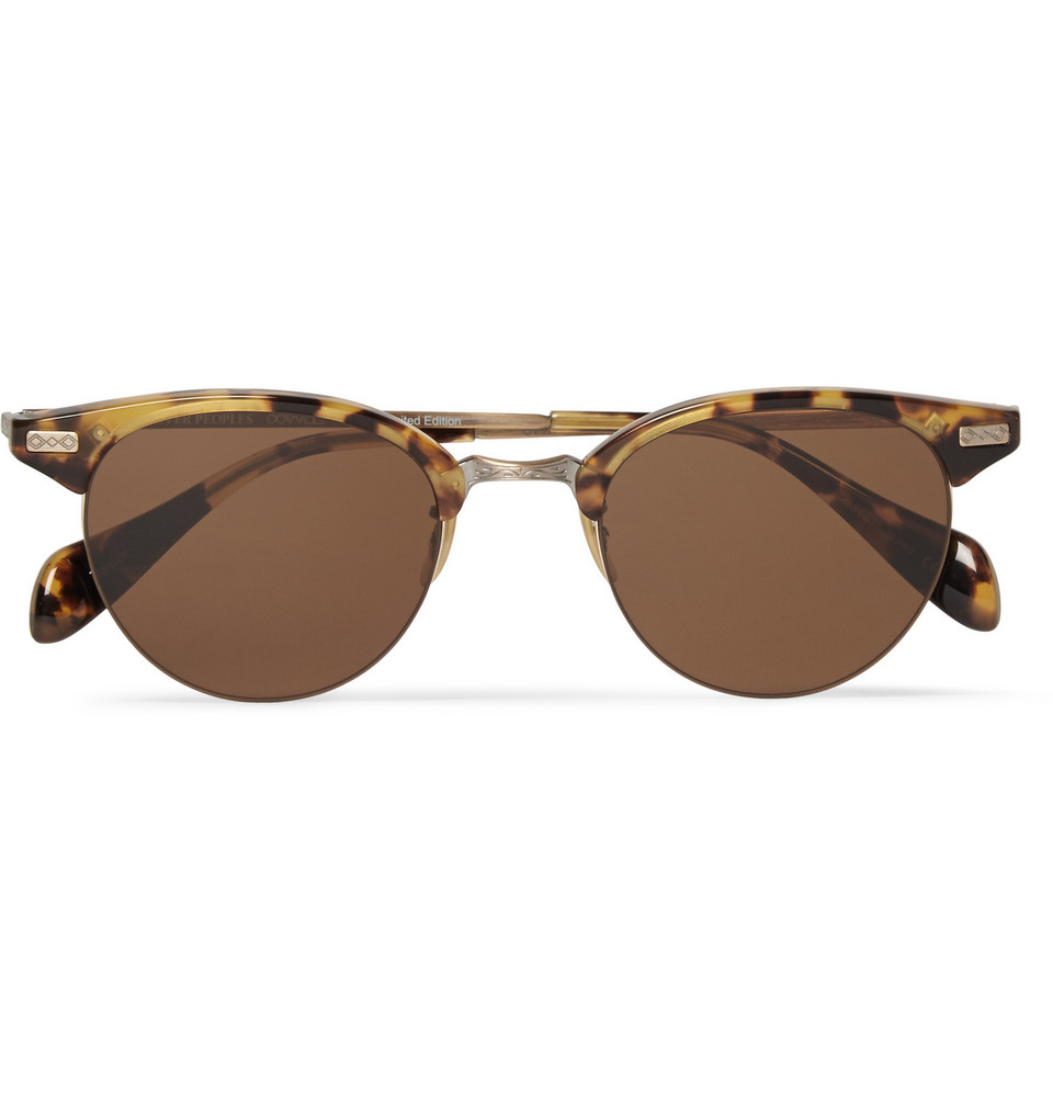 Tortoiseshell Acetate Sunglasses Brown