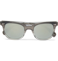 Oliver Peoples D-Frame Acetate Mirrored Sunglasses