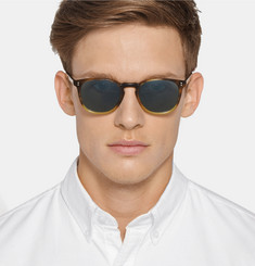 Oliver Peoples Finley Esq. Round-Frame Acetate Sunglasses