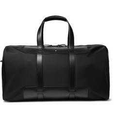 Montblanc Nightflight Leather-Trimmed Canvas Holdall