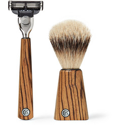 Czech & Speake - Zebrano Wood Shaving Set