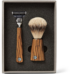 Czech & Speake - Zebrano Wood Shave Set