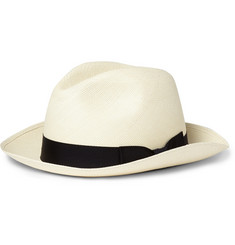 Kingsman Lock & Co Hatters Grosgrain-Trimmed Panama Hat