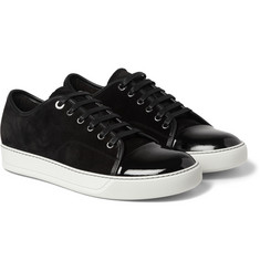 Lanvin - Suede and Patent-Leather Sneakers