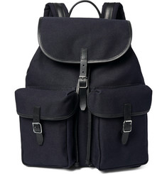 Club Monaco - Leather-Trimmed Cotton-Canvas Backpack