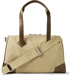 Club Monaco Leather-Trimmed Canvas Duffle Bag