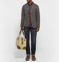 Club Monaco - Leather-Trimmed Canvas Duffle Bag