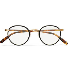Garrett Leight California Optical Wilson Round-Frame Acetate and Metal Optical Glasses