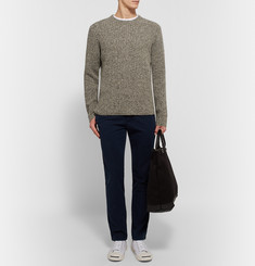 Club Monaco Ribbed Donegal Wool-Blend Sweater