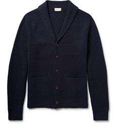 Club Monaco Shawl-Collar Elbow Patch Merino Wool Cardigan