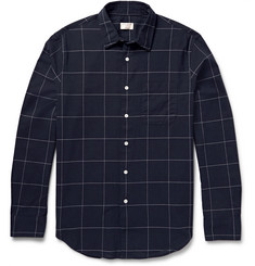 Club Monaco Windowpane-Checked Cotton Shirt